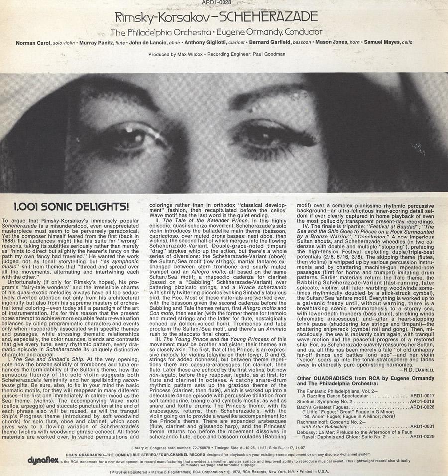 Rimsky-Korsakov LP Back