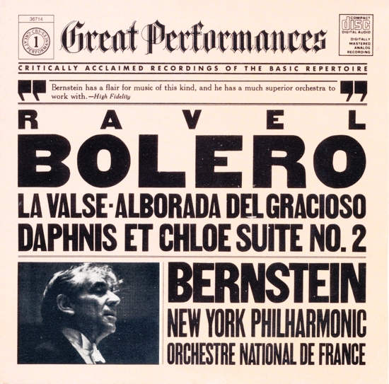 cbs great performances ravel bernstein MY 36714